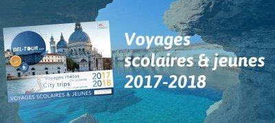 Brochure téléchargeable Voyages scolaires et jeunes 2017